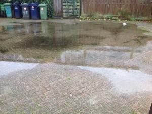 Garagepad blank na regenval