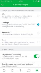 Nextdoor e-mail aanpassen