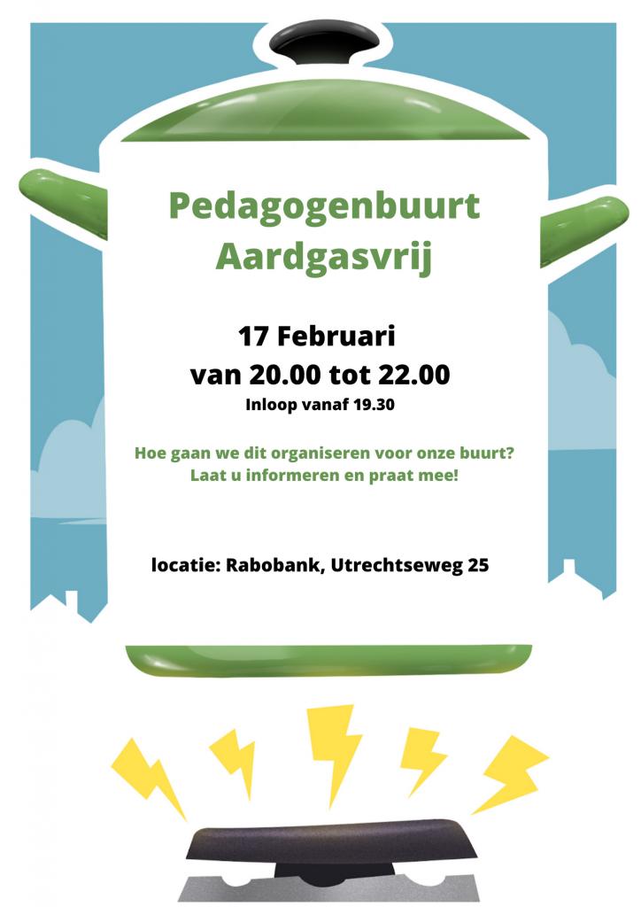 Pedagogenbuurt aardgasvrij 17 februari